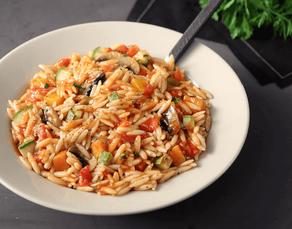 Κριθαρότο με λαχανικά και κοτόπουλο