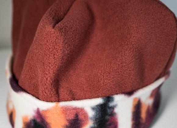 Cozy Hat - Terracotta & Rocky Mountains