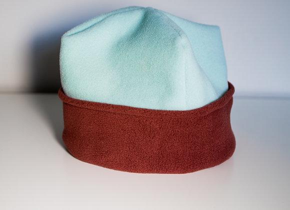 Cozy Hat - Sky Blue & Terracotta