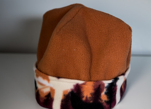 Cozy Hat - Burnt Orange & Rocky Mountains