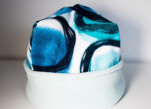 Cozy Hat - Bubbles & Sky Blue