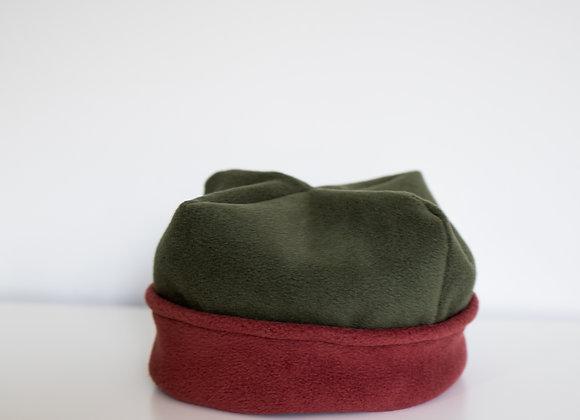 Cozy Hat - Olive & Terracotta