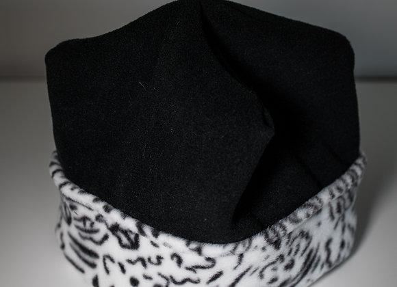 Cozy Hat - Black & Doodles
