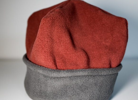 Cozy Hat - Terracotta & Grey
