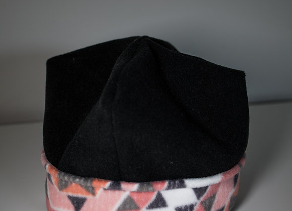 Cozy Hat - Black + Pink Geometric