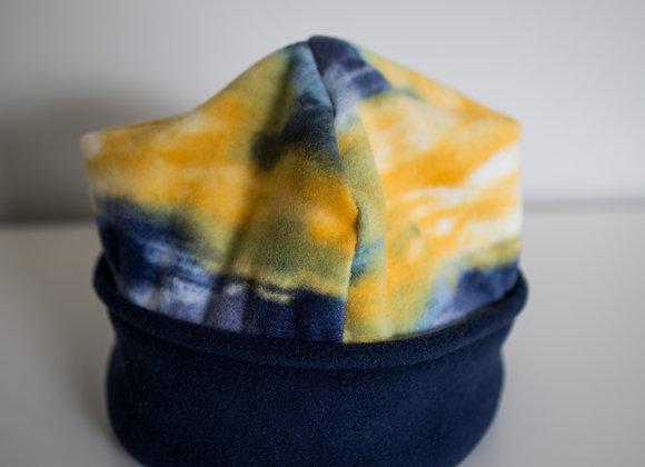 Cozy Hat - Watercolor & Navy
