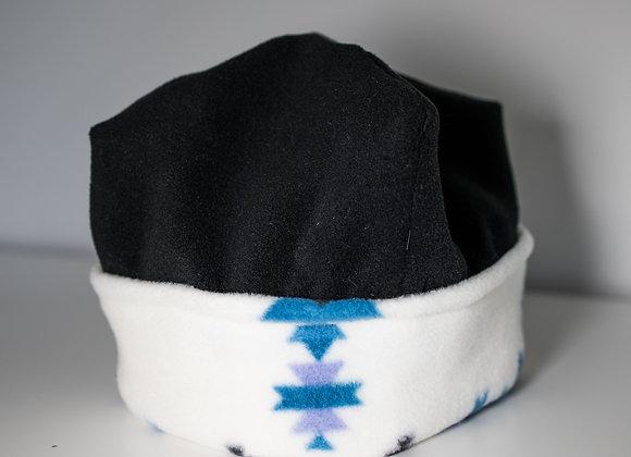 Cozy Hat - Black & Baby Blues