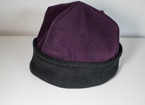 Cozy Hat - Purple & Black