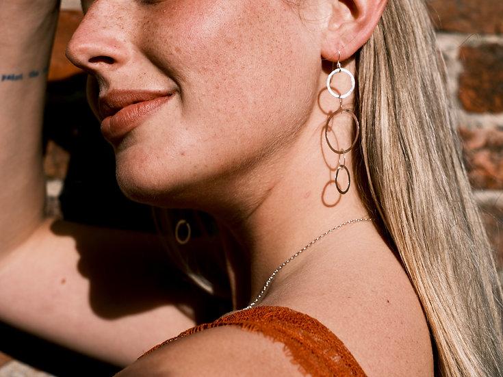 The Fundamental 5 Circle Earrings