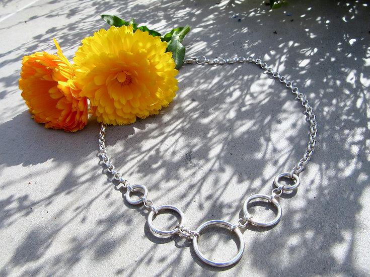 Fundamental 5 Hoop Necklace