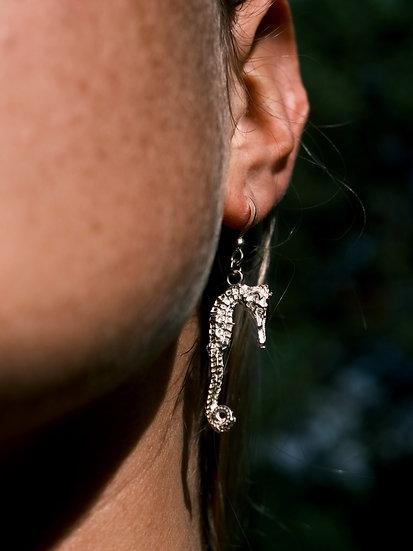Aqua Seahorse Earrings
