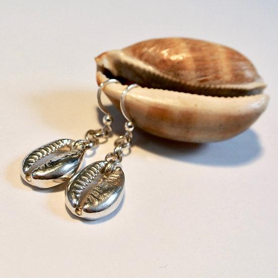 Aqua Bali Shell Earrings