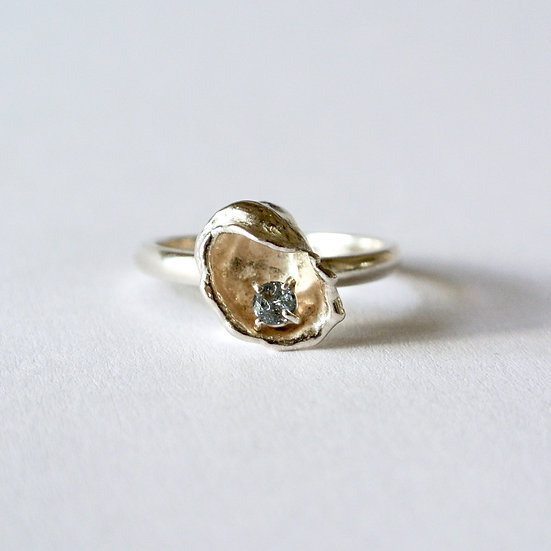 The White Lagoon Ring in Ocean Grey