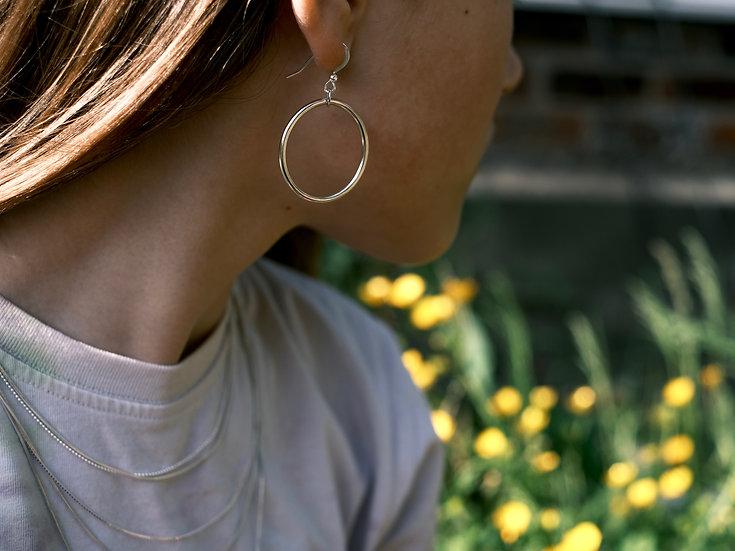 Drop Hoop Earring