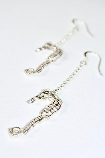 Aqua Seahorse Earrrings