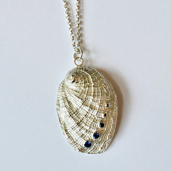 Aqua Orma Pendant With 3 Stones (Large)