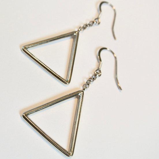 The Fundamental Triangle Earrings