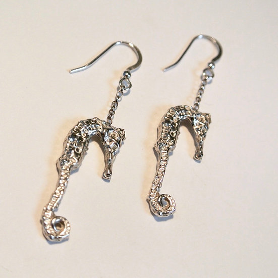 Aqua Seahorse Earrings