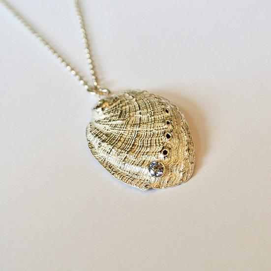 Aqua Orma Pendant With Stone (Large)
