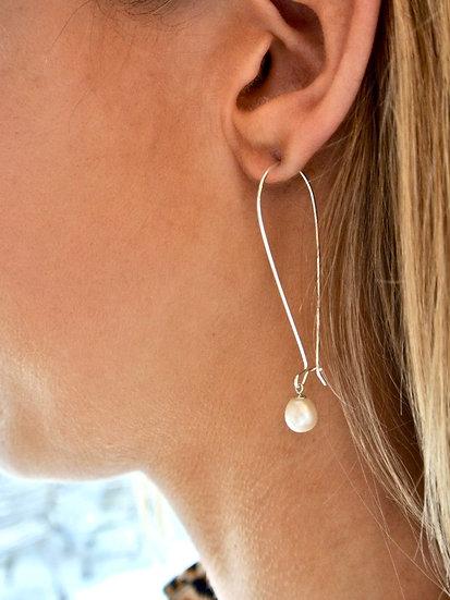Long Pearl Drops Earrings