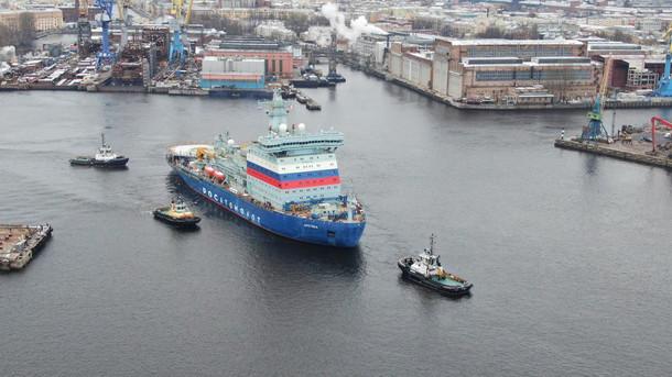 Головной универсальный атомный ледокол «Арктика» вышел на заключительный этап ходовых испытаний