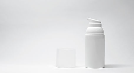 Minimal skincare bottle