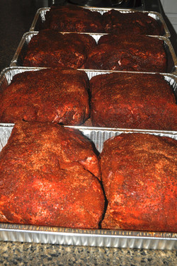 Smoker Loaded with Pork Butts
