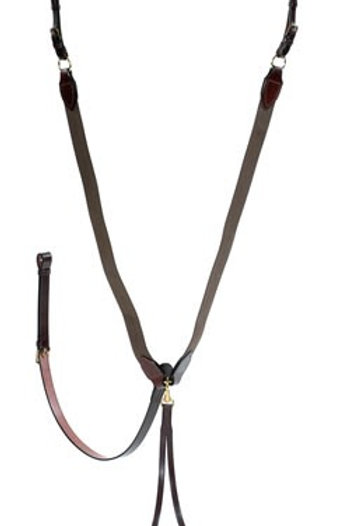 STEPHENS ELASTICATED V-CHECK WITH RUNNING MARTINGALE ATTACHMENT