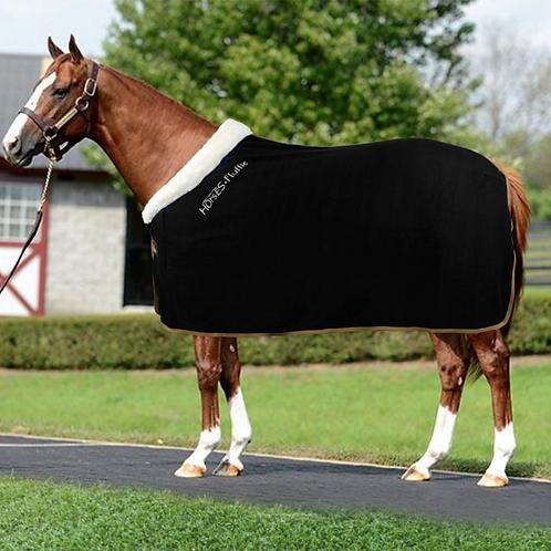 Horse Fleece Blanket Horses Fluffie