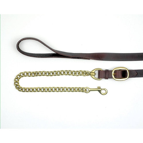"""""""M"""" range Classic Leather Lead with Chain"""