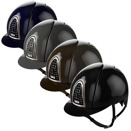 Kep Italia Cromo Polish Helmet Gold Frame