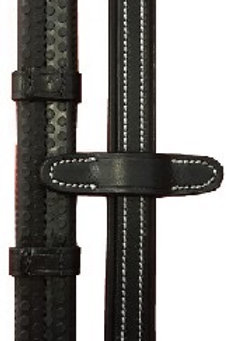Cavaletti rubber reins with hand stops