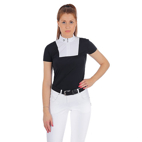 EQUESTRO WOMAN POLO SHIRT MARIAM MODEL IN TECHNICAL FABRIC