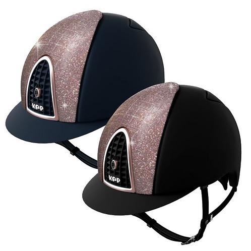 Kep Italia Cromo Textile Galassia Helmet Rosegold