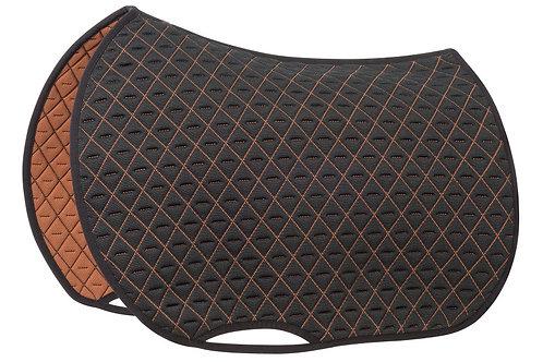 general purpose INFI-KNIT saddle pad black and caramel