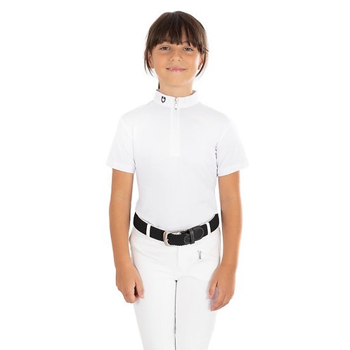 EQUESTRO GIRLS POLO SHIRT LUSINEH MODEL IN TECHNICAL FABRIC