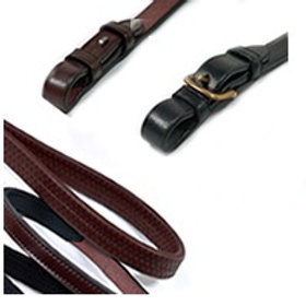 STEPHENS PLAIN LEATHER REINS SPLICED 1/2IN