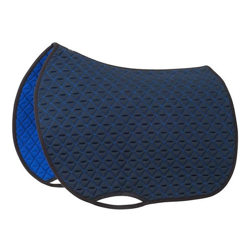 general purpose INFI-KNIT saddle pad navy blue and royal blue