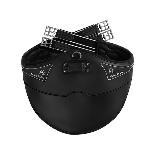 ACAVALLO GIRTH IN GEL AND PVC WITH STAINLESS STEEL RAPPERS AND BUCKLES