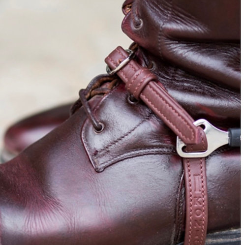 """IKONIC LEATHER SPUR STRAPS """"NYLON COVERED BY SOFT LEATHER"""""""