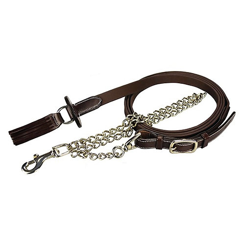 Silver crown Leather Lead Chain