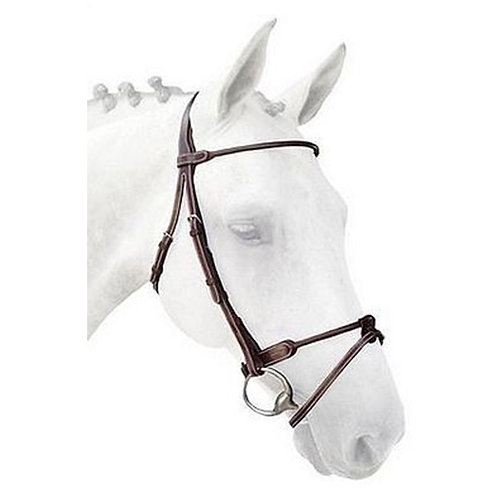 Silver Crown Rolled Bridle