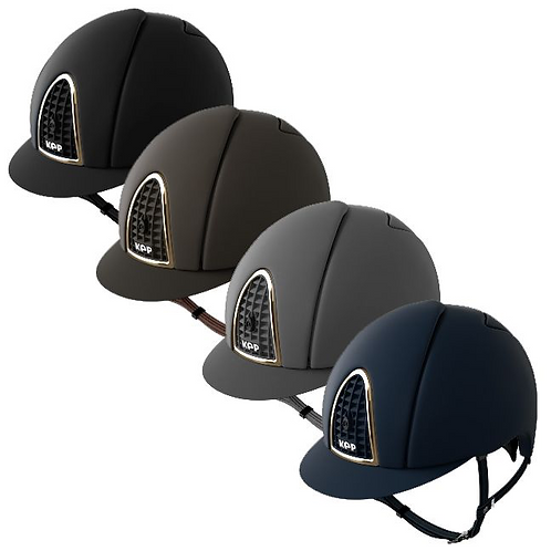 Kep Italia Cromo Textile Helmet Gold Frame