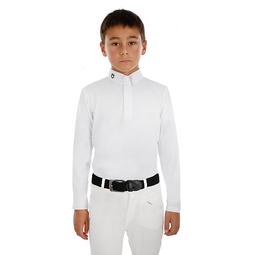 EQUESTRO AVETIS MODEL BOY POLO SHIRT IN STRETCH MATERIAL