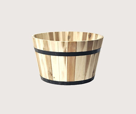 חצי חבית  לשתילה מעץ שיטה