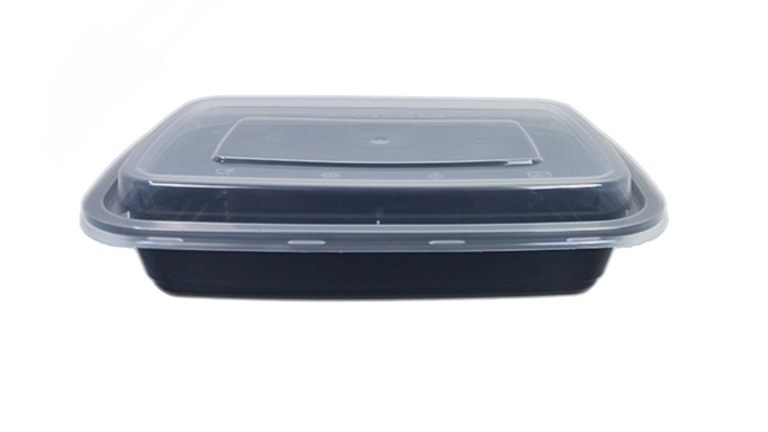 Eco friendly disposable lunch box with lid - 750ml