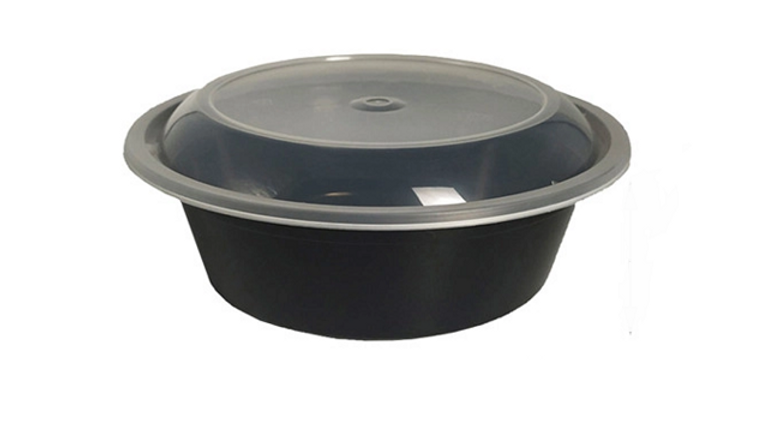 Eco friendly disposable bowl with dome lid - 32oz