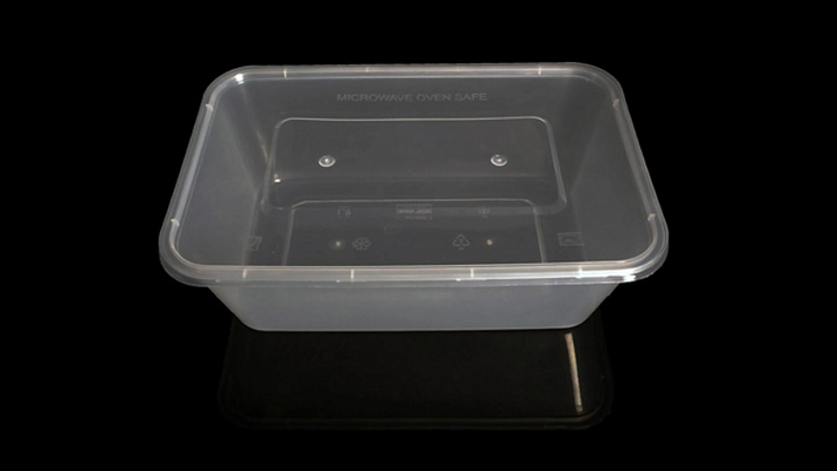 Eco friendly disposable lunch box with lid - 1500ml