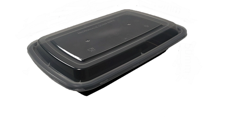Eco friendly disposable lunch box with lid - 28oz