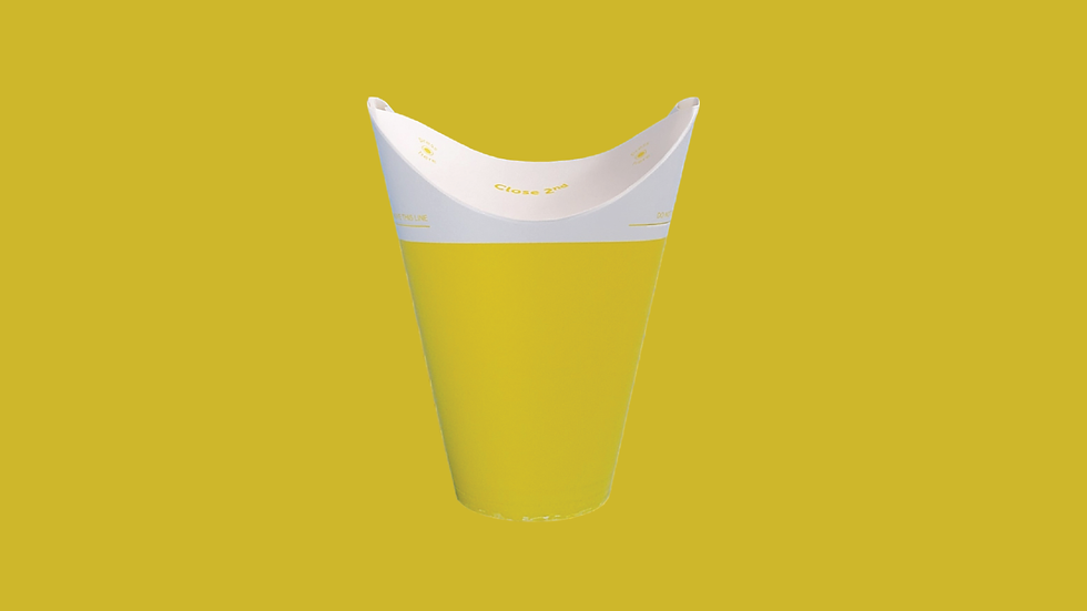 Yellow Single Wall Cold Cup 12oz/375ml